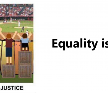Equality is not always justice